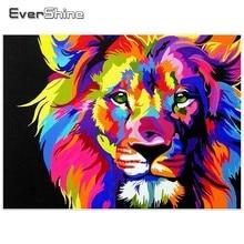 Evershine Diamond Embroidery Lion Sale Full Square Diamond Painting Animals Pictures Rhinestones Diamond Mosaic Home Decoration