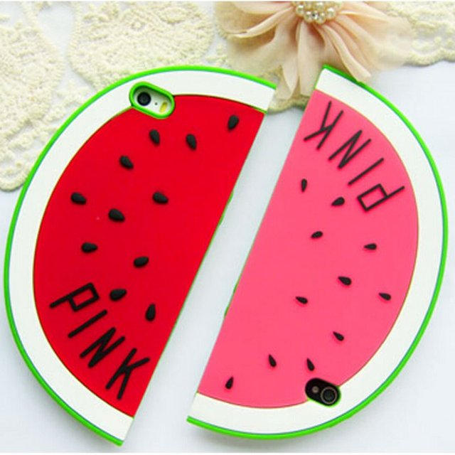 huge selection of 5b5c1 d9085 US $4.68 9% OFF|Fashion 3D Cute Fruit Summer Holiday Beach Watermelon Shape  Design Soft Silicone Case cover For iPhone 6 6S plus iphone6-in ...