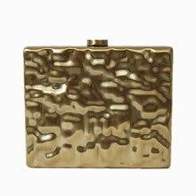 2016 neue marke mode frauen messenger bags elegante licht gold hochwertige Abendtasche kleid prom Kupplung dame party harte handtasche