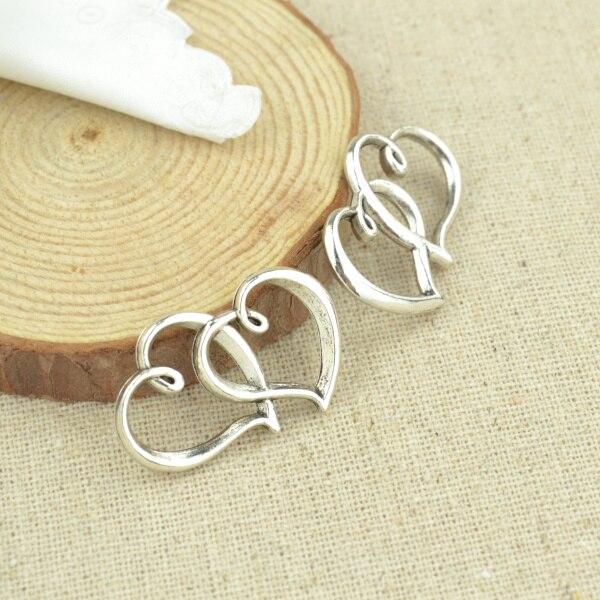10 pcs 31*24 mm Antique Tibetan Silver Charms Bracelet Necklace Pendant  New Fashion Alloy charm  heart 2340