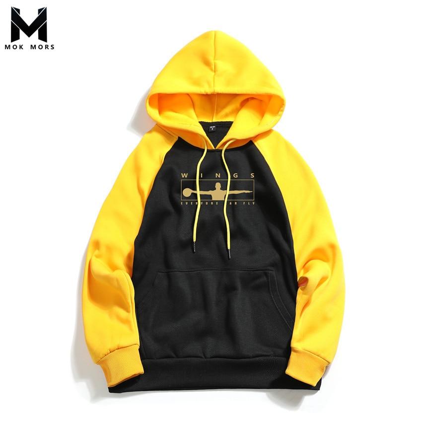 Sweatshirts Men Hoodies Fitness Printing Fashion Casual Exercise Cross-Border Slim Hot