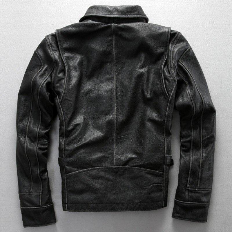 Novo Avirex Fly Prava usnjena jakna David Backham Style Obrni navzdol - Moška oblačila - Fotografija 3