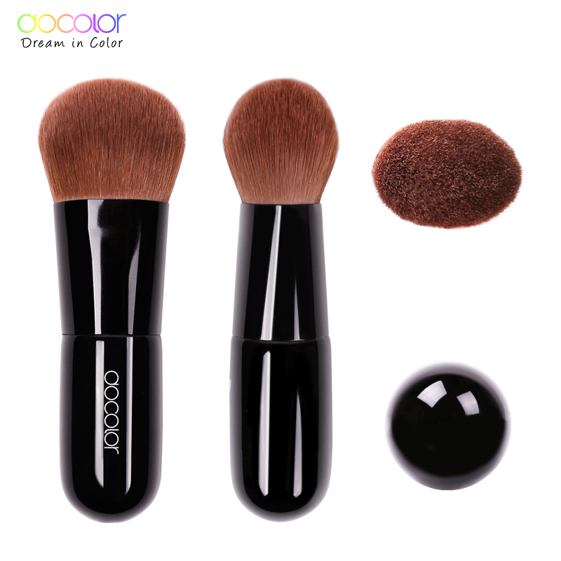 Docolor Kabuki Brush Mjukt bukt Bristles foundation Power Brush Make - Smink - Foto 3