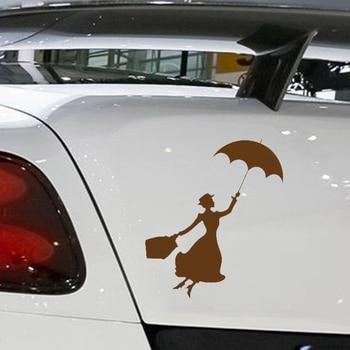 HotMeiNi Car Sticker Jdm styling Window Bumper Vinyl Truck Body Decal Waterproof Mary Poppins 13*13cm salt rock surf funny car window jdm euro vinyl decal sticker