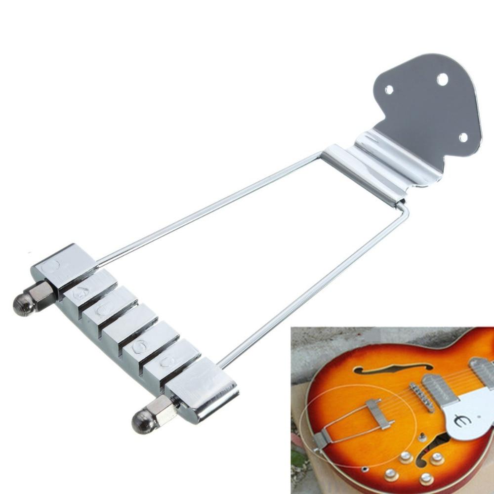 chrome 6 string guitar tailpiece trapeze open frame for rh sites google com