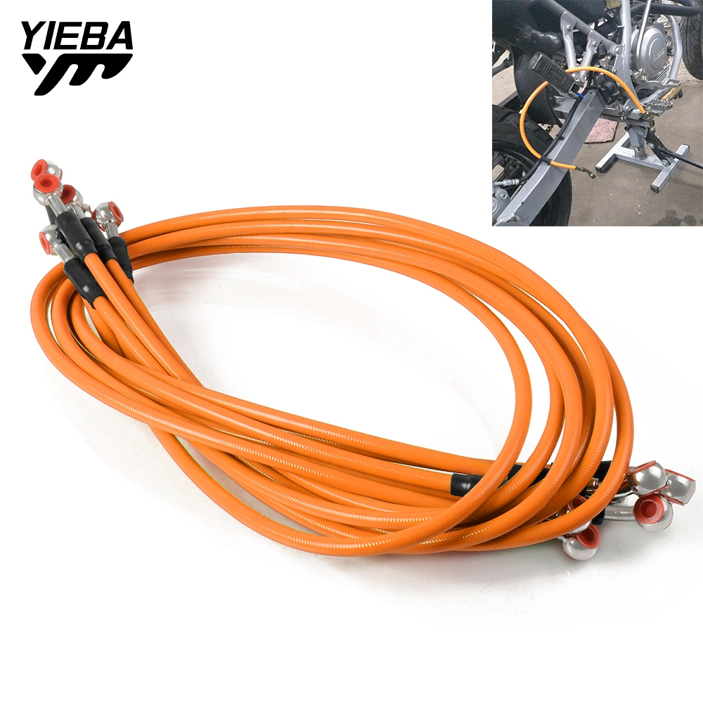 For Ducati M900/M1000 Honda CBR400/NC23/NC29 Most Models Motorcycle Brake Hose Clutch Oil Hose Stainless Steel + Plastic