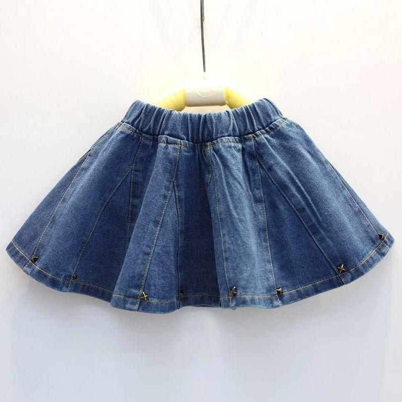 Mädchen Kleidung Mutter & Kinder Yorkzaler Mädchen Rock Mädchen Kleidung Frühling Sommer Kinder Jeans Tutu Rock Kinder Lässig Jean Perlen Rock Drop Verschiffen