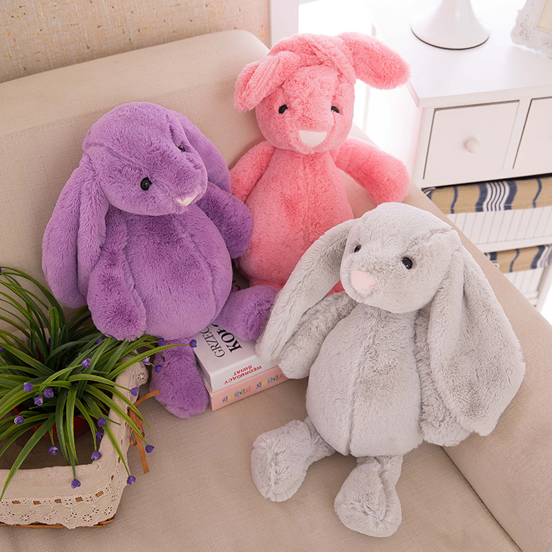 30 cm Baby toy Bunny Baby sleep comfortable soft plush rabbit plush doll bed calm smooth for Kids Gifts Party Toys giraffe rabbit bed bells infant toy long hanging animal baby child rattle bed bells toys for gril boy gift 50% off
