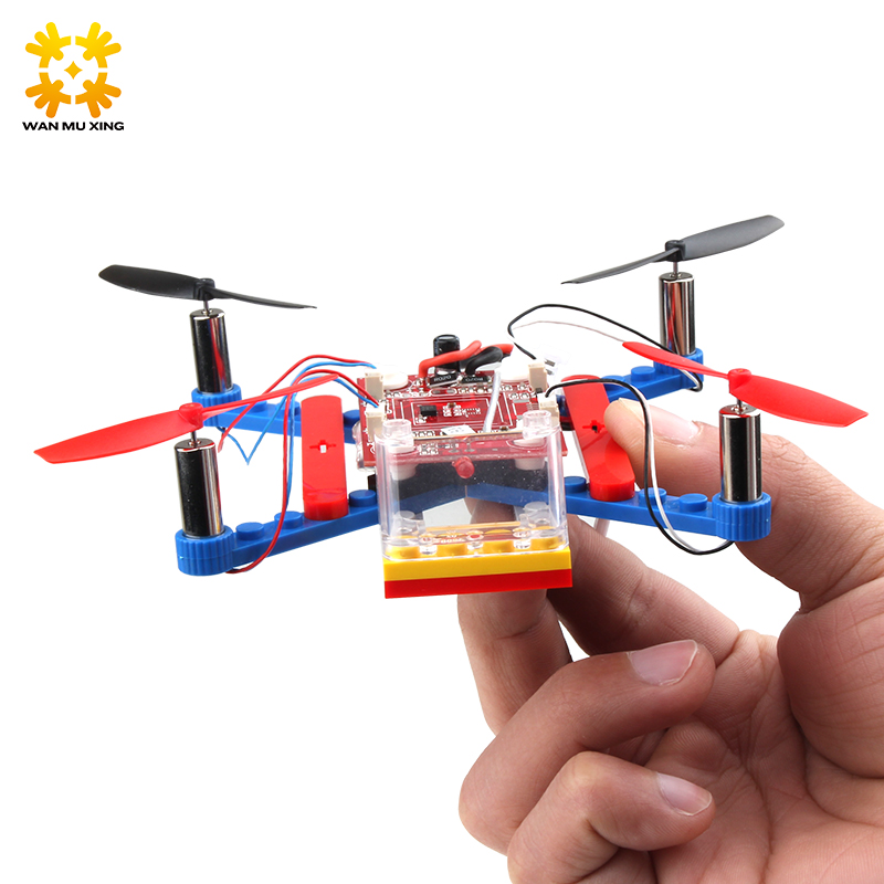 Remote Control 4 Axis Aircraft Such Great Fun Toy Assembled Building Blocks RC Airplanes Outdoor Toys Children Gift with box assembled cdrom controller kit with display remote control 0508 4