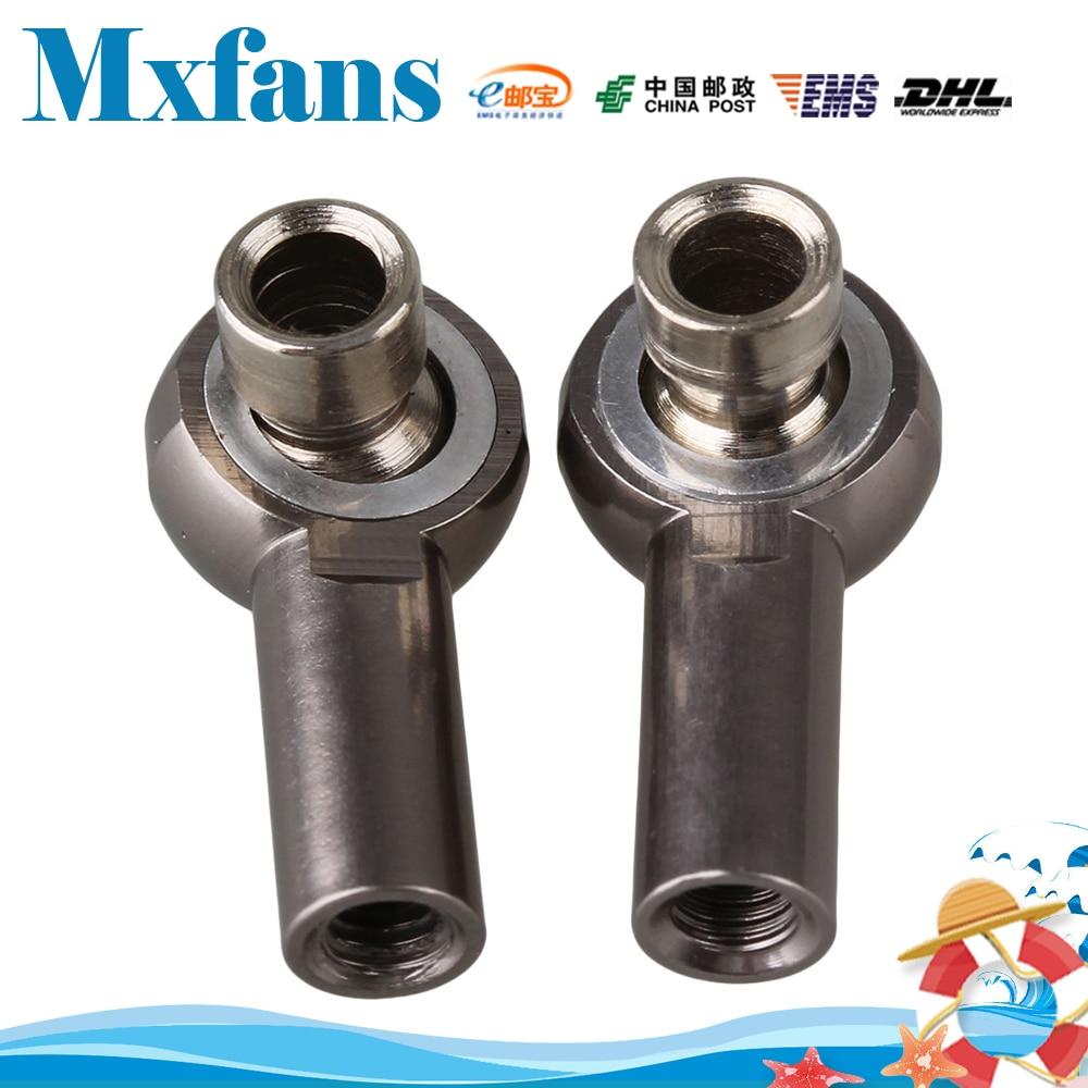 Mxfans 2PCS RC 1:10 Car Alloy M3 Link Rod End Ball Joint Upgrade D10033 Titanium Color hg p401 p402 p601 rc car universal joint p10004