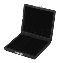 Yibuy Black English Horn Reed Box Case with Flannel Slot Hold 6pcs Reeds