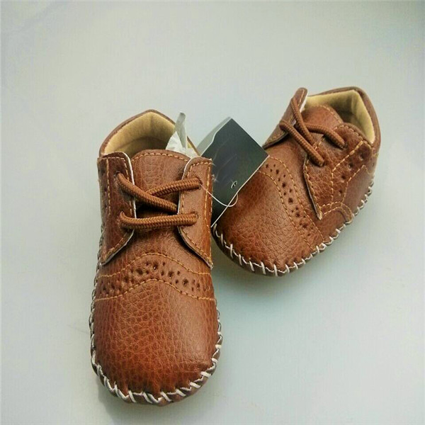 Kid Baby Boys Girls Toddler Faux Leather Soft Sole Crib Prewalker Shoes Sneakers