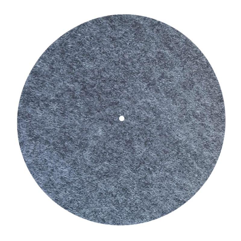 3MM Thick Anti-Static Felt Platter Turntable Mat Anti-Vibration Slipmat Audiophile For LP Vinyl Record Players-Grey Color