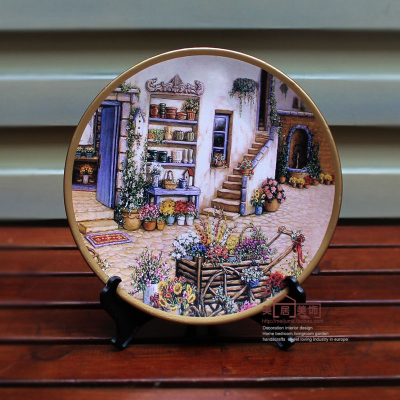 Fashion Decoration Plate Hanging Plate Wall Wobble Ceramic Crafts Hand  Painting Plate Rustic American In Wall Stickers From Home U0026 Garden On  Aliexpress.com ...