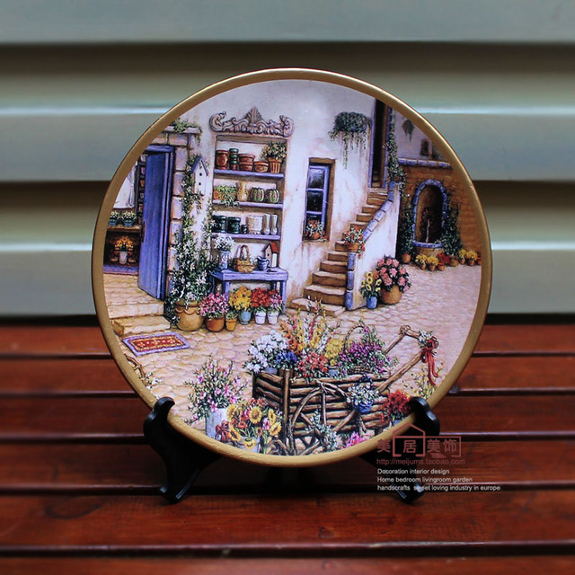 Fashion decoration plate hanging plate wall wobble ceramic crafts hand painting plate rustic american & Fashion decoration plate hanging plate wall wobble ceramic crafts ...