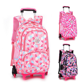 ZIRANYU Removable Children School Bags with 2/3 Wheels for Girls Trolley Backpack Kids Wheeled Bag Bookbag travel luggage School Bags