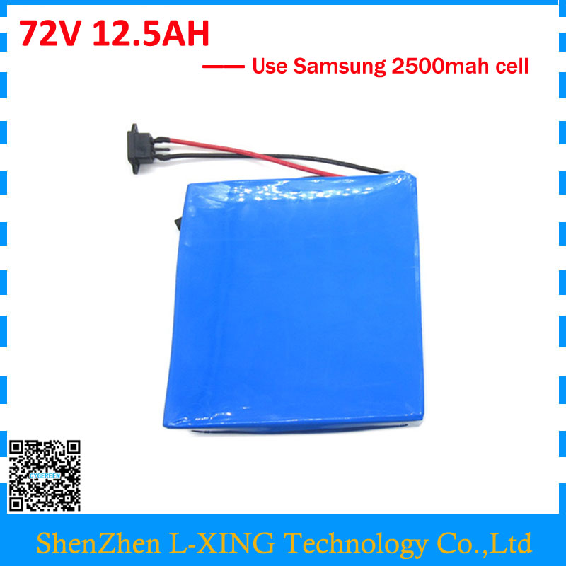 Free customs fee 72V 12.5AH battery 2500W 72V 12AH lithium battery use Samsung 2500mah cell 40A BMS 2A Charger Powerful free customs duty 36v 28ah battery pack 1500w 36 v lithium battery 28ah use samsung 3500mah cell 50a bms with 2a charger