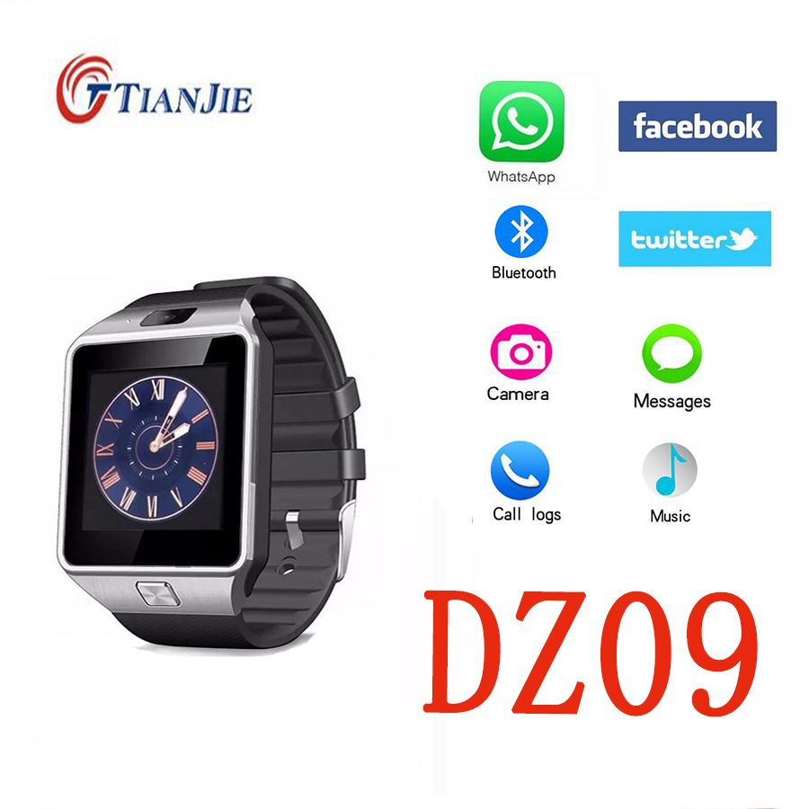 DZ09 Smart Watch U8 Digital Wrist With Men Sport Bluetooth Electronic Smartwatch for IOS Apple iPhone Samsung Huawei Phone