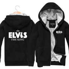 2017 Winter Casual Mens Fur Coats Rib Sleeves Outwear Man Thick Cotton Jackets Hooded -Elvis Band size L XL XXL XXXL