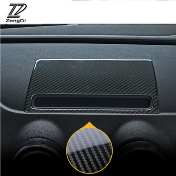 ZD Car styling Carbon Fiber Dashboard Navigation Decorative GPS Trim Stickers For Audi A3 8V 8p 8l 2012-2017 Sline Accessories image