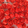 500 шт., цветы розы в виде медведя диаметром 3,5 см