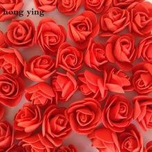 500 pçs rosa urso flor cabeça 3.5 cm de diâmetro bud seda sally flores artificiais diy decoração do casamento flor arte materiais