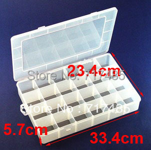 24Grids Plastic Bead Box Case Organizer Clear Stackable Containers