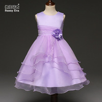 Sunny Eva Party Girl Dress Purple Blue Flower Girl Dresses For Weddings Children S Costumes For