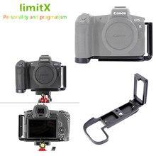 Soporte de placa L de liberación rápida, soporte de trípode de agarre manual para cámara Canon EOS R para cabezal de trípode Benro Arca Swiss