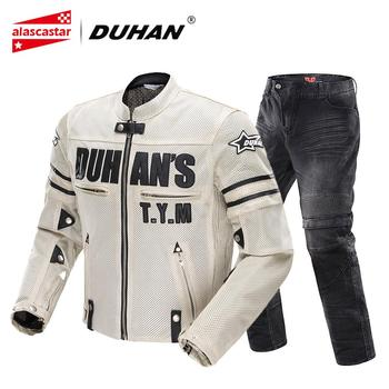 d161736f26c Chaqueta de Moto DUHAN para hombre, pantalones de motocicleta,  transpirable, de malla para