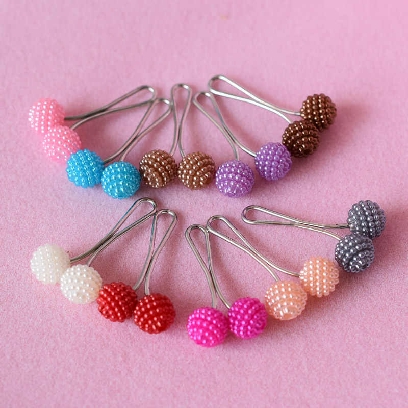 Rice beads Scarf Buckle Jewelry For Women Hijab Pins waxberry steel Colorful Safety Clothing Pin Brooch Muslim Style Accessories