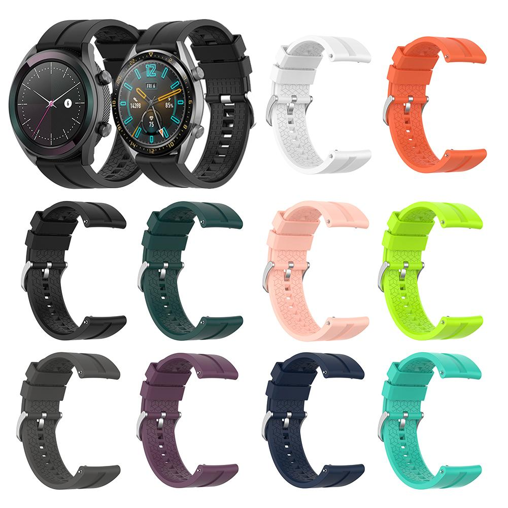 Silicone Watch Band Wrist Strap Bands For Huawei Watch GT 46mm / 42mm Version For Huawei Honor Watch Magic Replacement Band(China)