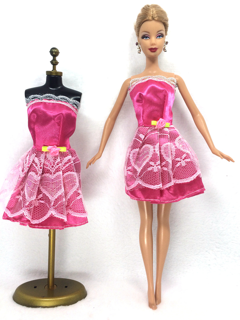 NK One Set Outfit Handmade Fashion Short Dress For Barbie Doll Dress ...