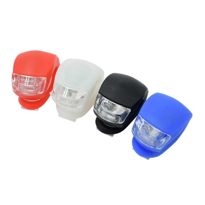 Wasafire Новый Велосипедный Спорт головы, задние колеса свет светодиодный flash Детская безопасность свет силиконовые Велоспорт лампа 1 шт. фарол велосипед интимные аксессуары