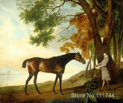 Shark with his Trainer Price in a River Landscape George Stubbs paintings living room decor Handmade High qualityShark with his Trainer Price in a River Landscape George Stubbs paintings living room decor Handmade High quality
