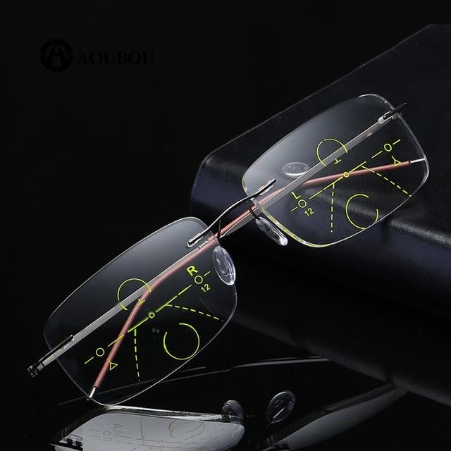 자동 줌 다 초점 안경 읽기 frameless ultralight smart eye protection 과거를 보면 너무 멀리보세요.