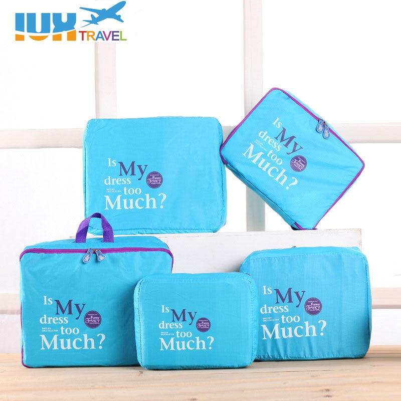 IUX Одяг Організатор Сумки Дорожні сумки Чоловіки і жінки Сумки для багажу Сумки дорожні Упаковка Кубики Організатор