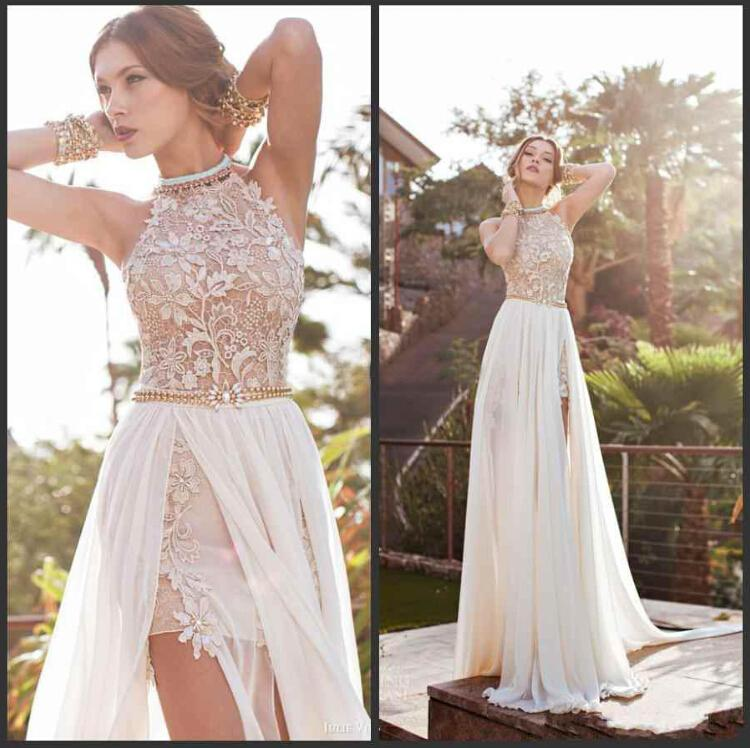 Vintage Beach Prom Dresses High Neck Promotion-Shop for ...