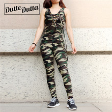 Camo Women Sportwear Sportswear Woman Gym Sport Wear Suit Jumpsuits Women's Sports Fitness Clothing Female Clothes For Workout(China)