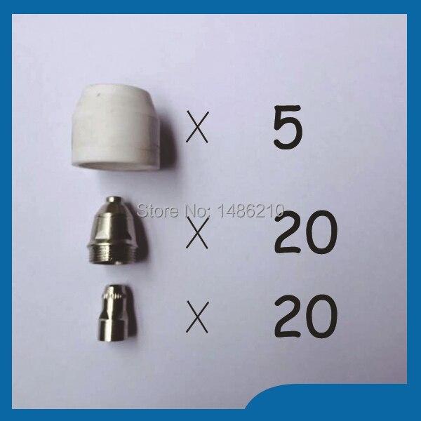 ФОТО 2015 P80 Panasonic Air Plasma Cutting Cutter Torch Consumables, Plasma TIPS,Nozzles 1.5mm,100Amp, Plasma Electrodes, 45PK
