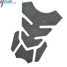 موتو خزان من ألياف الكربون الوسادة خزان حامي ملصق ل كاواساكي النينجا 300/ABS النينجا 500/R EX500 النينجا 600R ZX600 النينجا 750R BMW