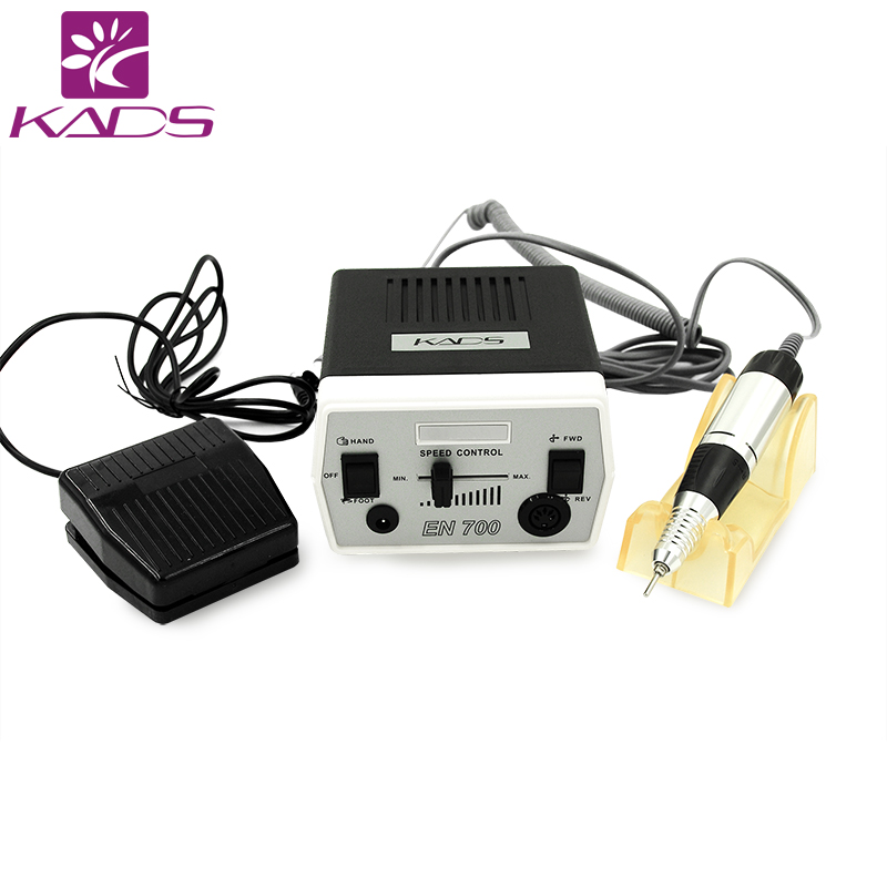 KADS 30000RPM Nail Drill Machine Manicure Pedicure Tools Electric Machine with Handle Drill Bit Set 4