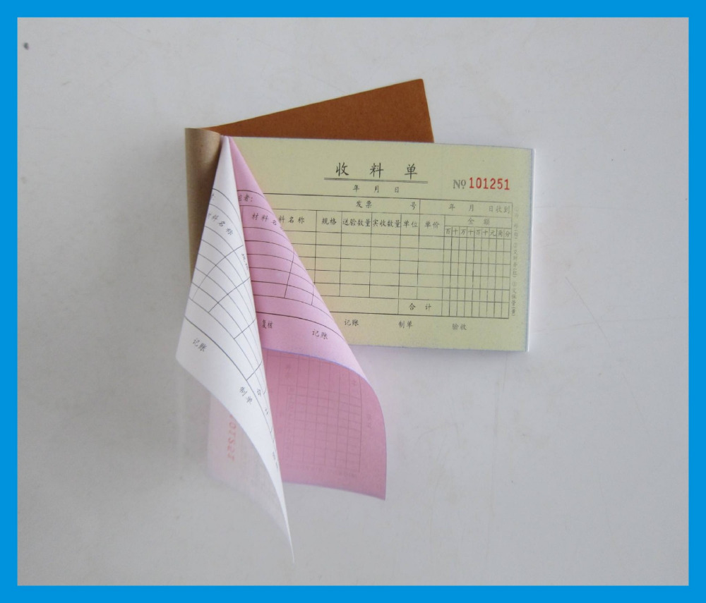 Custom Invoice Paper Sample Invoice Carbonless Invoice Book Printing