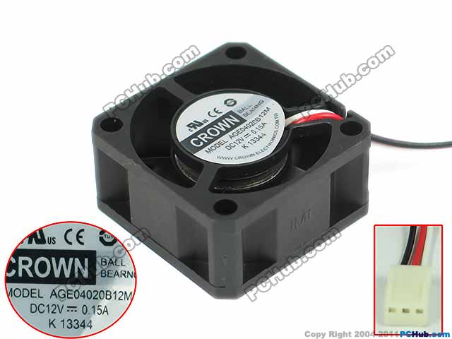 emacro for crown age04020b12m server square fan dc 12v 0.15a 40x40x20mm 3 wire-in fans & cooling ... homemade 12v generator wire diagram