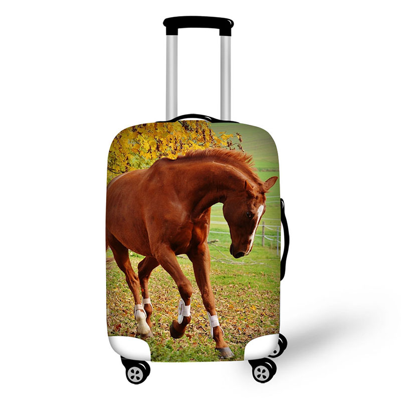 Horse Design Print Antifouling Dustproof Stretchable Luggage Cover Waterproof Suitcase Cover Made Of High Elastic Fabric