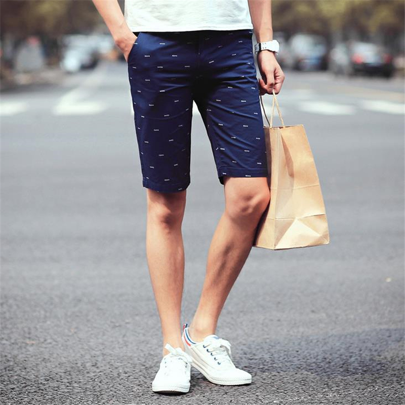 DoreenBow Polyester Fashion Summer Style Hot Sale Leisure Shorts Mens Breathable High Quality Shorts Fish Bone Printed, 1 PC