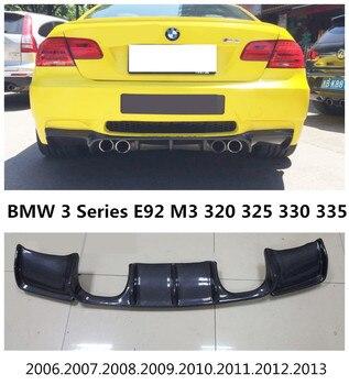 Carbon Fiber Rear Lip Spoiler Untuk BMW Seri 3 E92 M3 320 325 330 335 2006-2013 Kualitas Tinggi Bumper Diffuser Mobil Modifikasi