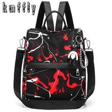522b1b850 De moda Anti-robo Oxford mujer mochila nueva Graffiti mochilas para mujeres  Negro Mochila De Viaje bolsas de la Escuela para niñ.