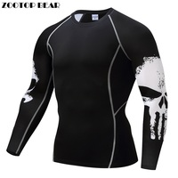 Punisher Compression Shirt Men Breathable Quick Dry T Shirt Bodybuilding Top Crossfit Tee Fitness Weight Lifting