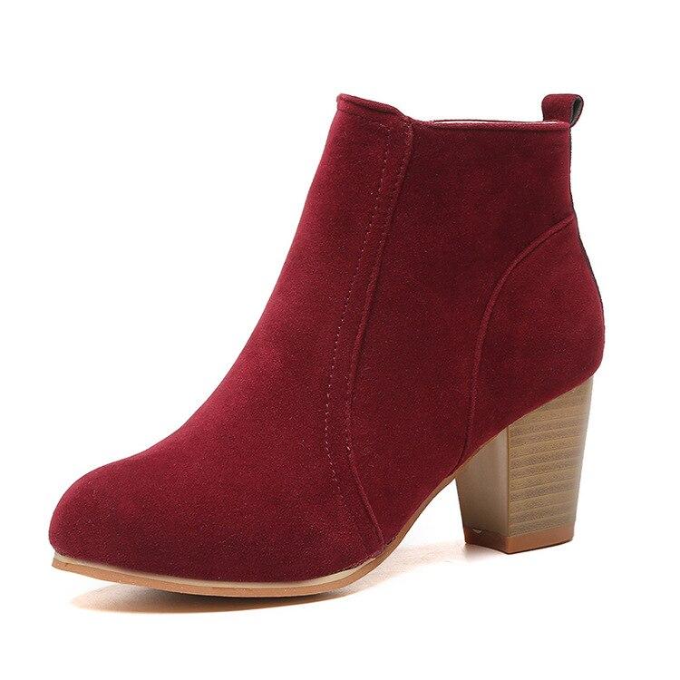 piazza Fujin nero moda marrone neve gregge donna scarpe donna winered caviglia invernali stivali tacchi marca calda alti wvxrw6qg